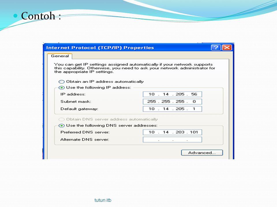 Datalink Menyajikan format data untuk lapis fisik / pembentukan frame, pengendalian kesalahan (Error Control) Pengendalian arus data (flow control) Application Presentation Session Transport Network Data-Link Physical tutun itb
