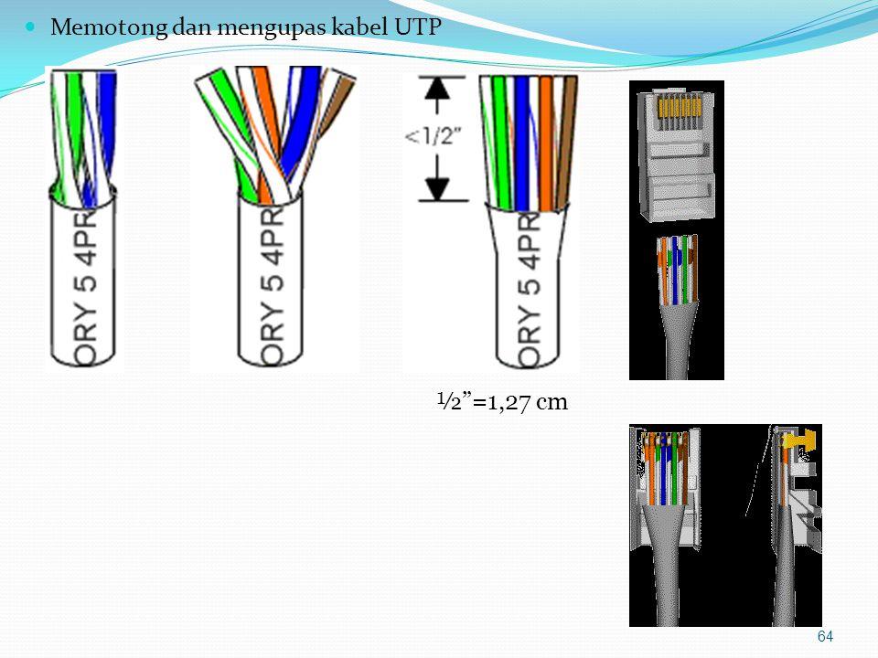 Memasukkan kabel ke konektor 65