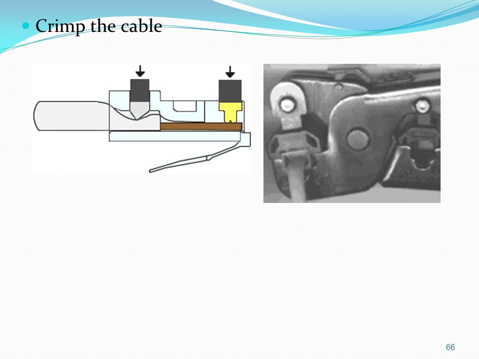 Crimp the cable 66