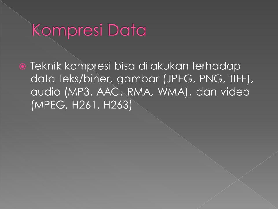  Source Coding  Bersifat lossy  Berkaitan dengan data semantik (arti data) dan media.