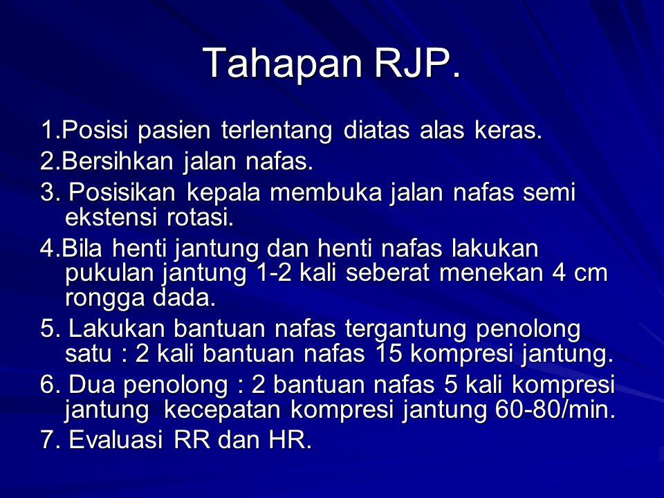 Tahapan RJP.1.Posisi pasien terlentang diatas alas keras.