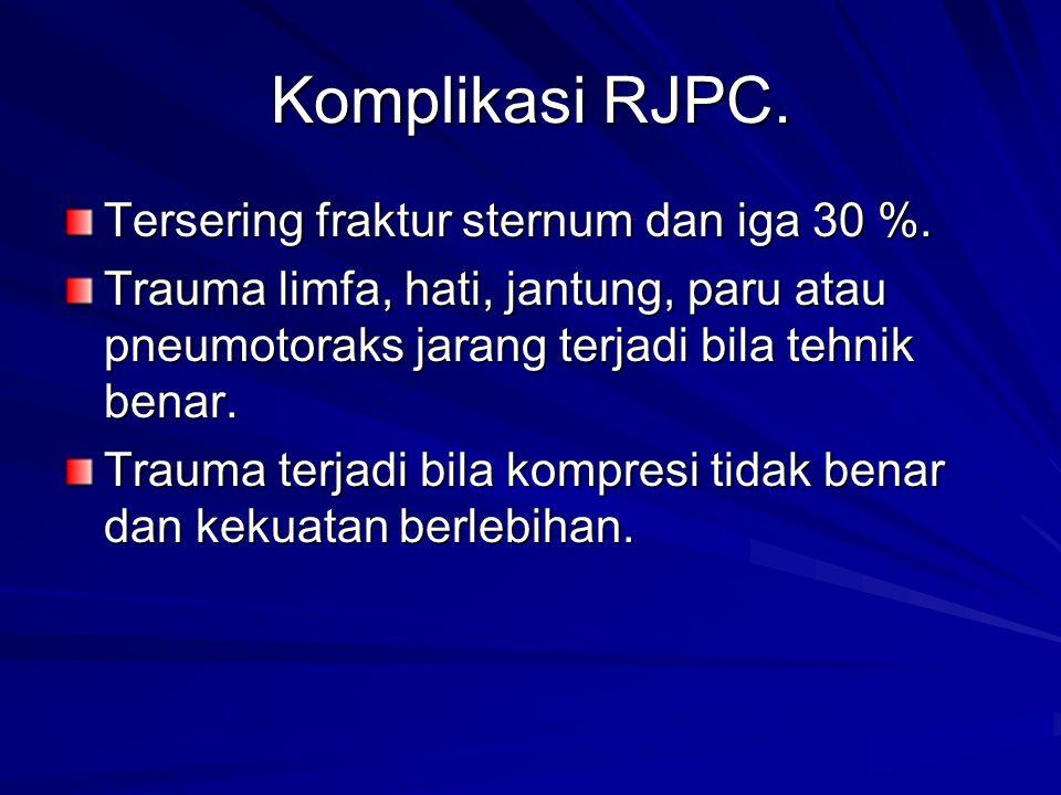 Komplikasi RJPC.Tersering fraktur sternum dan iga 30 %.