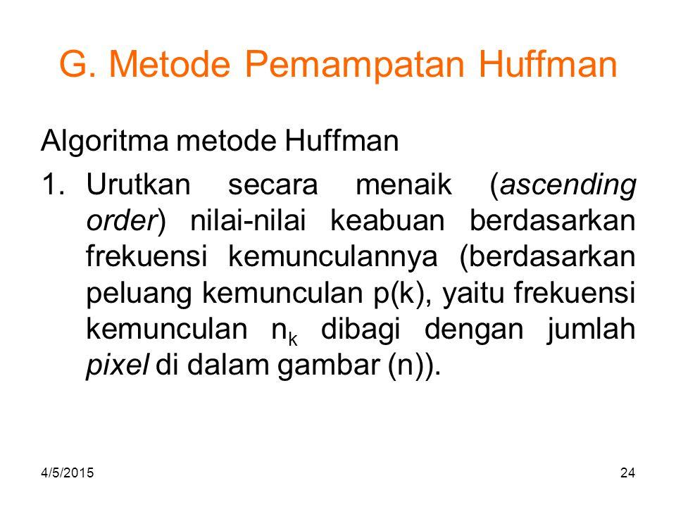 G.Metode Pemampatan Huffman 2.