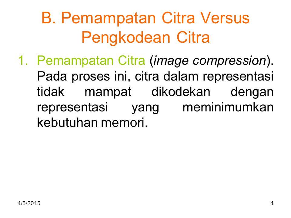 B.Pemampatan Citra Versus Pengkodean Citra 2. Penirmampatkan Citra (image decompression).