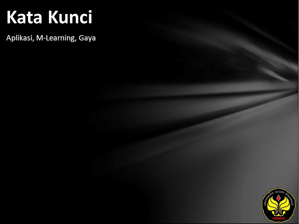 Kata Kunci Aplikasi, M-Learning, Gaya