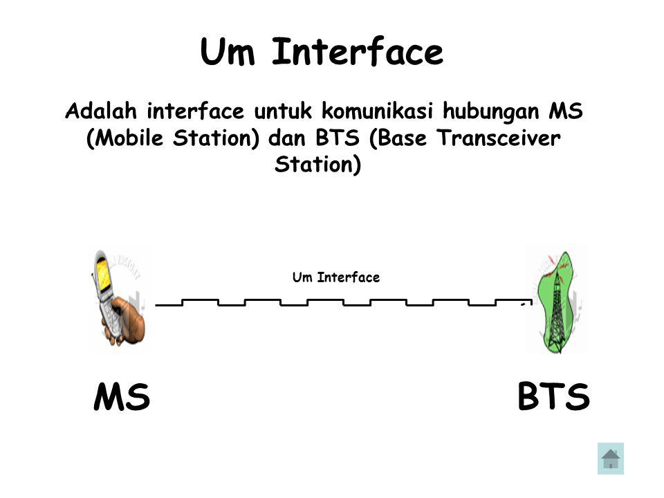 Base Transceiver Station (BTS) BTS adalah perangkat GSM yang berhubungan langsung dengan MS.