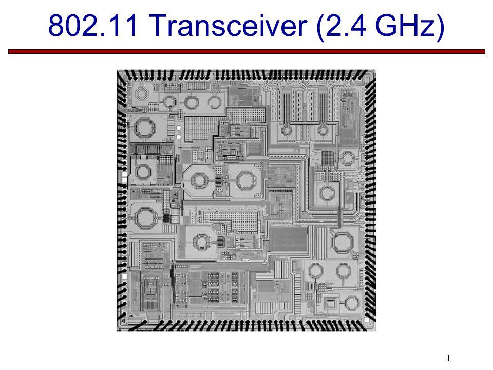 1 802.11 Transceiver (2.4 GHz)
