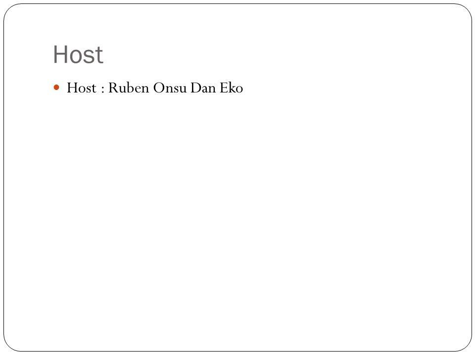 Host Host : Ruben Onsu Dan Eko