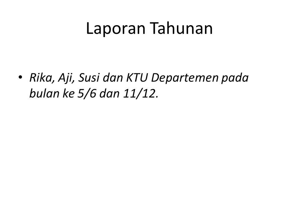Laporan Tahunan Rika, Aji, Susi dan KTU Departemen pada bulan ke 5/6 dan 11/12.