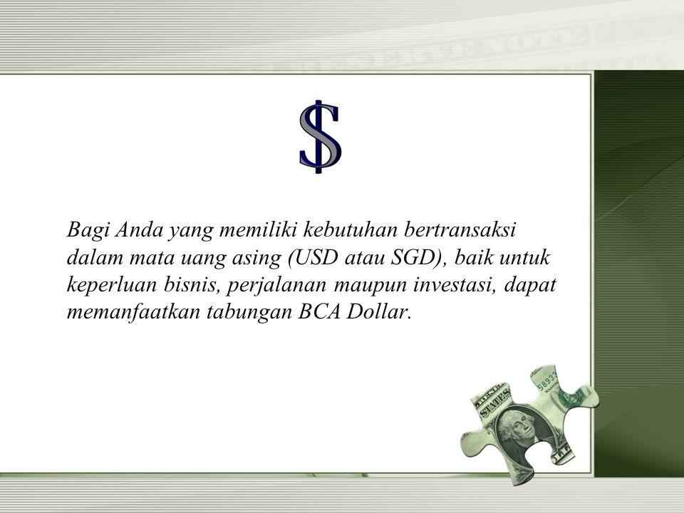 Ada Biaya Yang di Kenakan Saat Pembukaan BCA Dollar Gak .