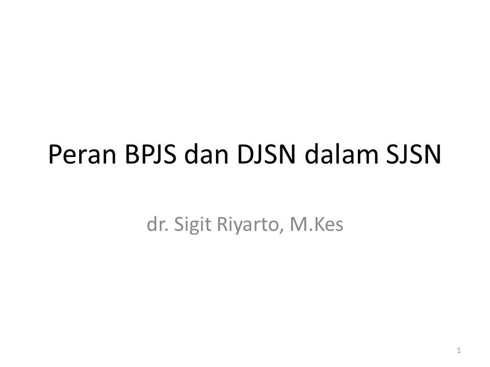 Peran BPJS dan DJSN dalam SJSN dr. Sigit Riyarto, M.Kes 1