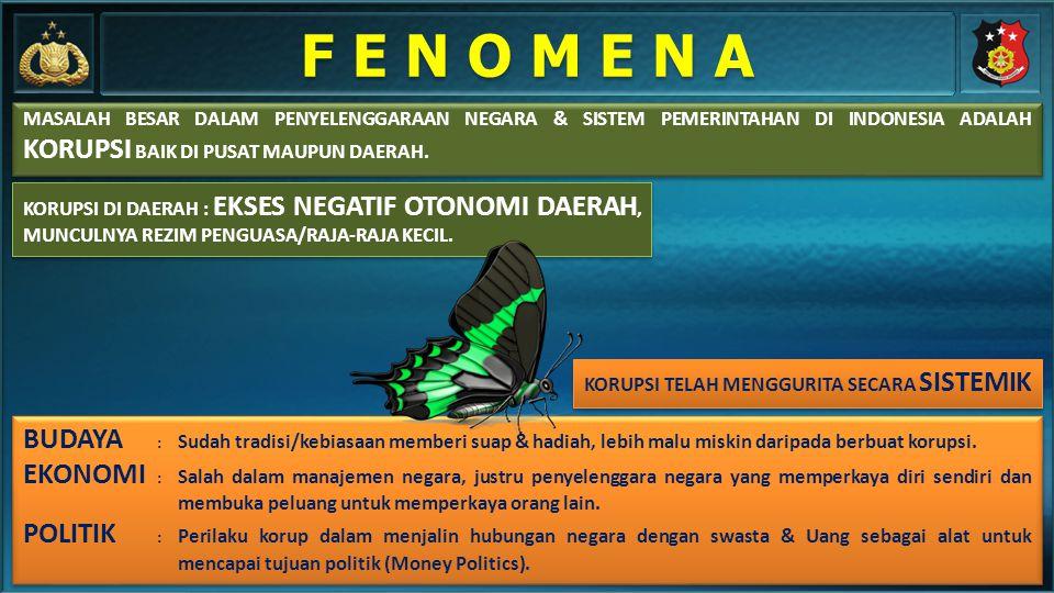 MASALAH BESAR DALAM PENYELENGGARAAN NEGARA & SISTEM PEMERINTAHAN DI INDONESIA ADALAH KORUPSI BAIK DI PUSAT MAUPUN DAERAH. KORUPSI TELAH MENGGURITA SEC