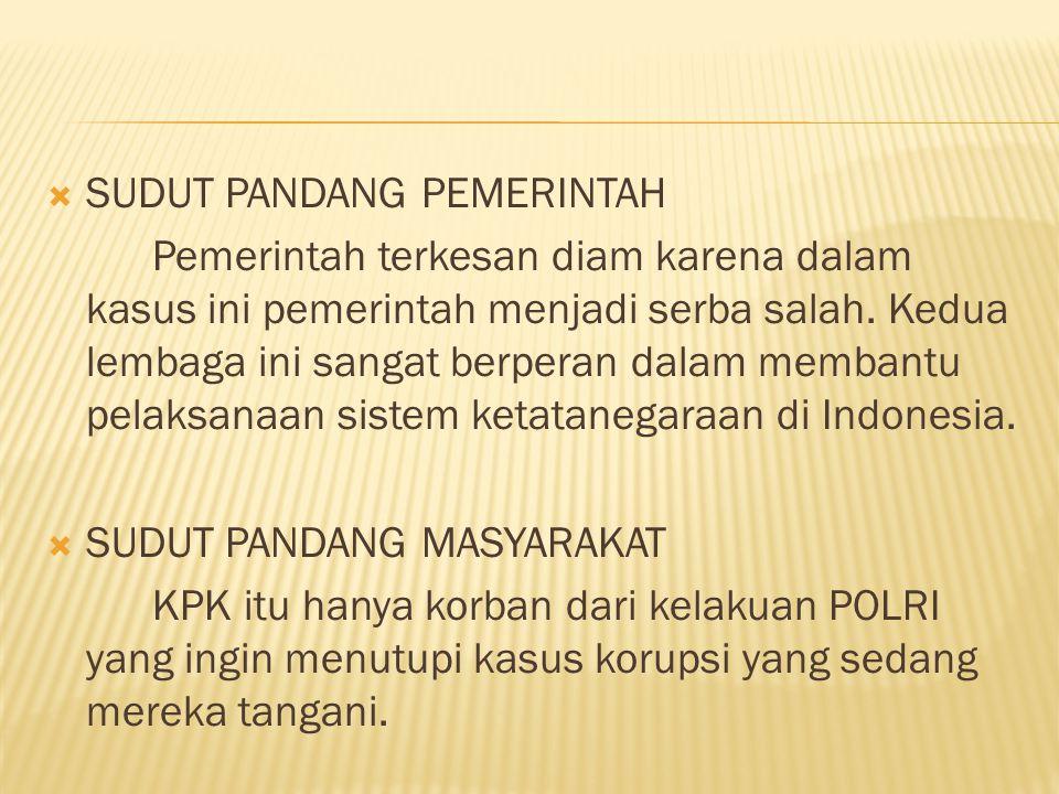  SUDUT PANDANG MAHASISWA Menurut sudut pandang mahasiswa, kasus ini seharusnya bisa diselesaikan secara baik-baik dalam lingkup internal.