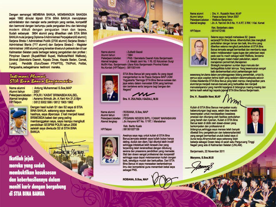 Testimoni Walikota Banjarbaru  Selama saya menjadi mahasiswa STIA Bina Banua.