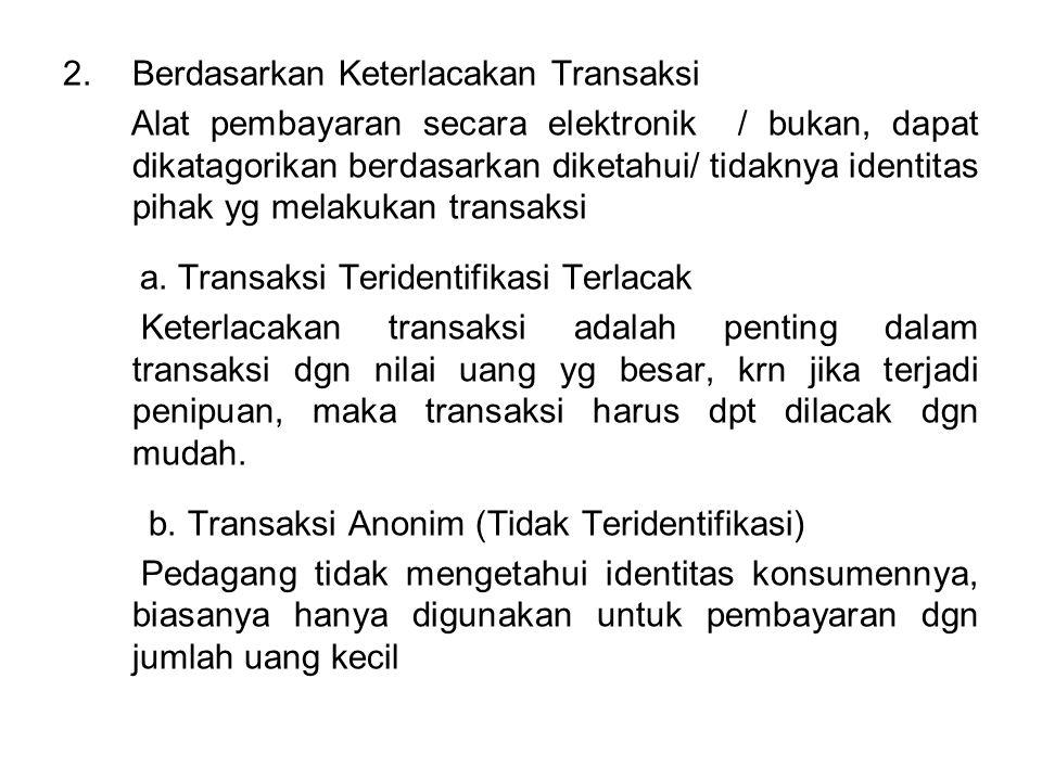 3.Berdasarkan Status Hukum Status hukum disini adalah pihak2 yg melakukan transaksi yaitu konsumen dan pedagang a.