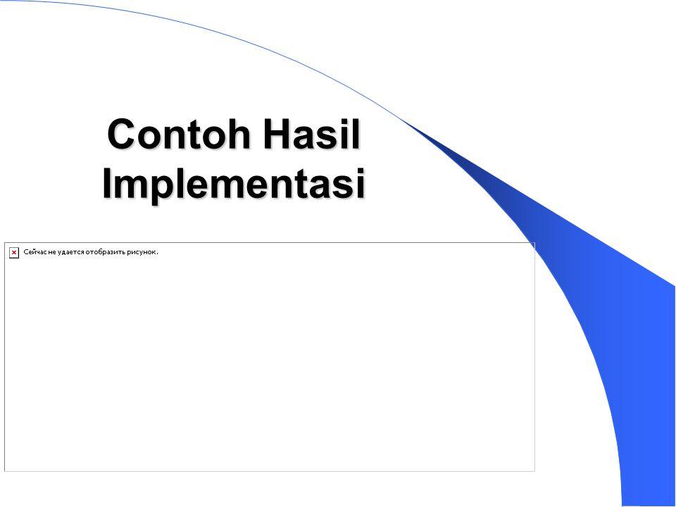 Contoh Hasil Implementasi