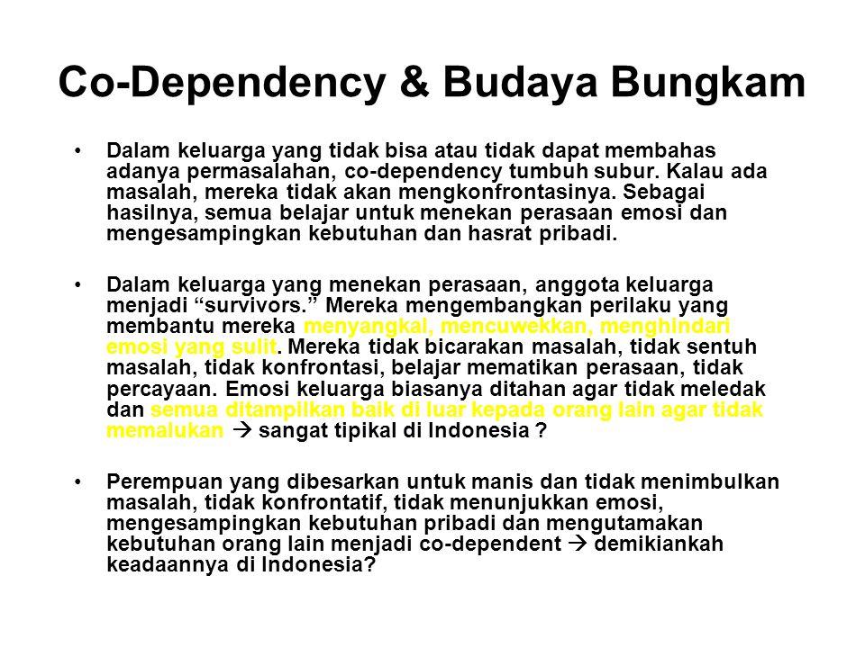 Apakah Co-Dependency? Co-dependency adalah perilaku yang dipelajari yang dapat diwariskan dari generasi ke generasi, atau bisa menjadi warisan budaya
