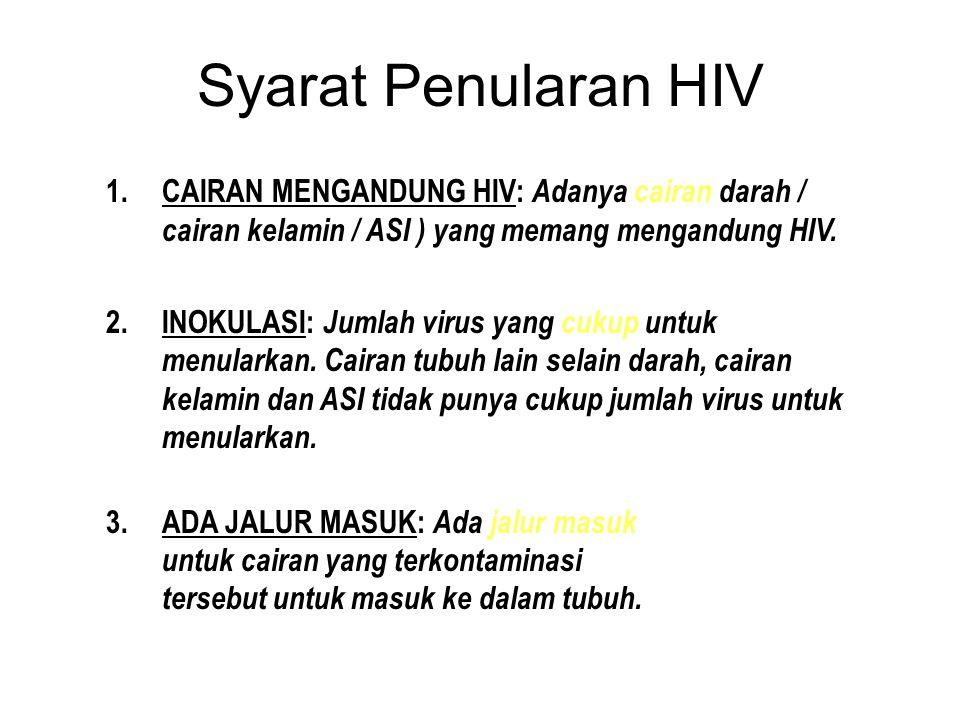 HIV, AIDS dan Penularan HIV = Human Immunodeficiency Virus Virus (pada manusia) yang menurunkan kekebalan tubuh manusia. AIDS = Acquired Immuno Defici