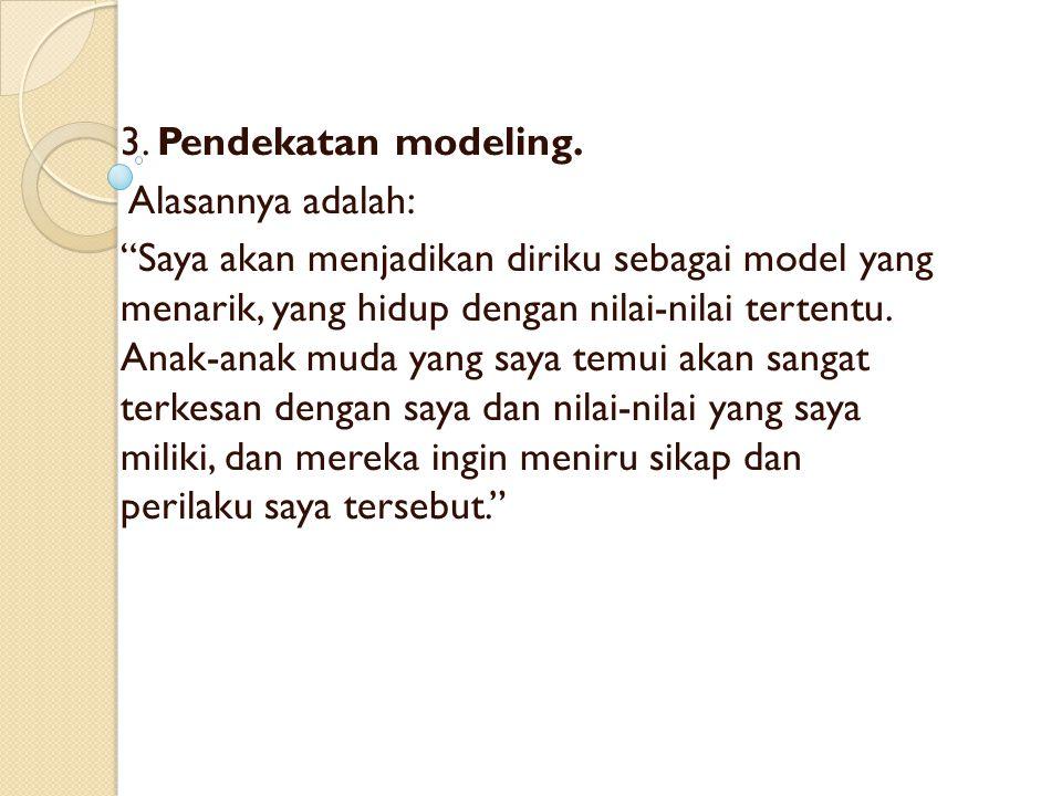 3.Pendekatan modeling.