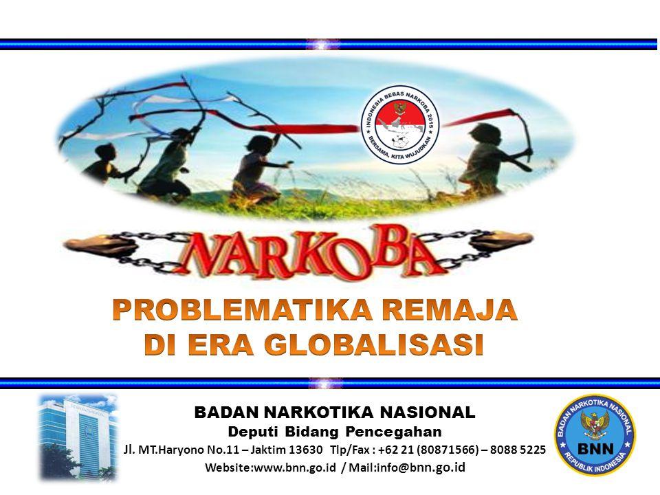 BADAN NARKOTIKA NASIONAL Deputi Bidang Pencegahan Jl.