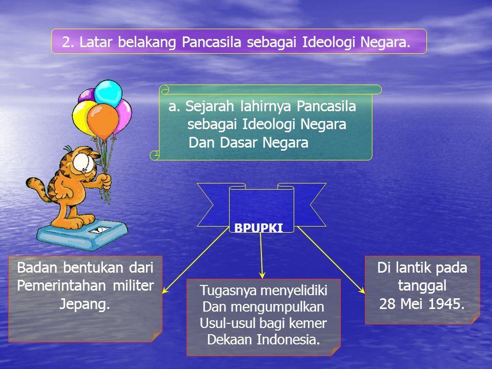 2.Nilai – nilai Pancasila sebagai dasar Negara. Nilai pancasila Sebagai dasar Negara.