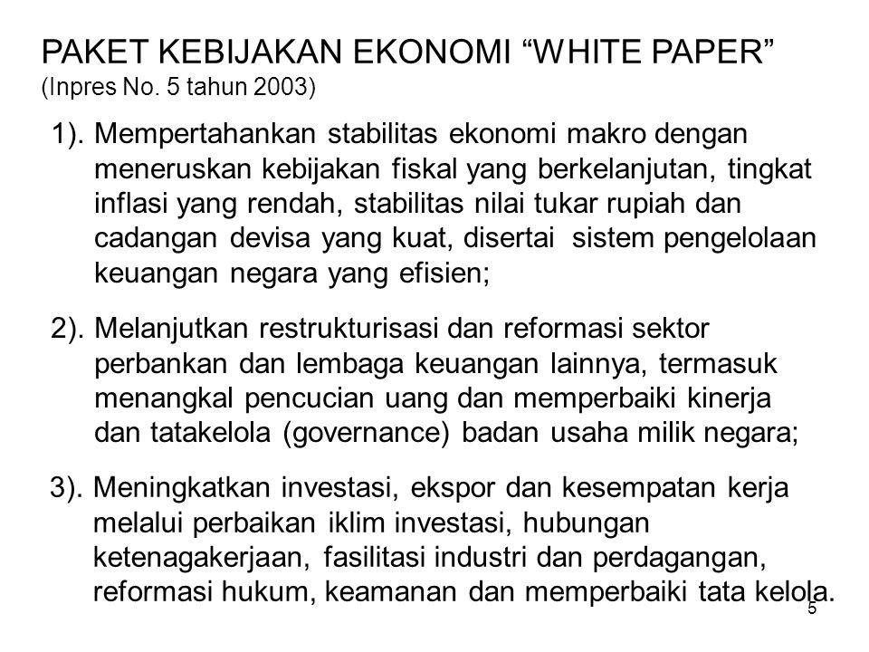 5 PAKET KEBIJAKAN EKONOMI WHITE PAPER (Inpres No.
