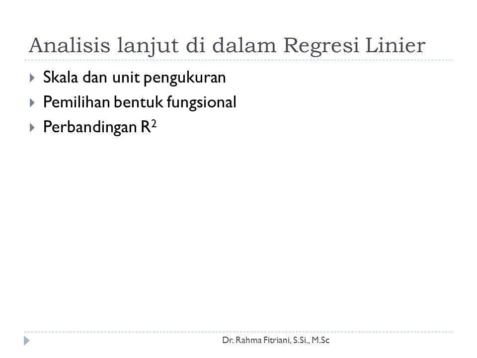 Skala dan unit pengukuran Dr.