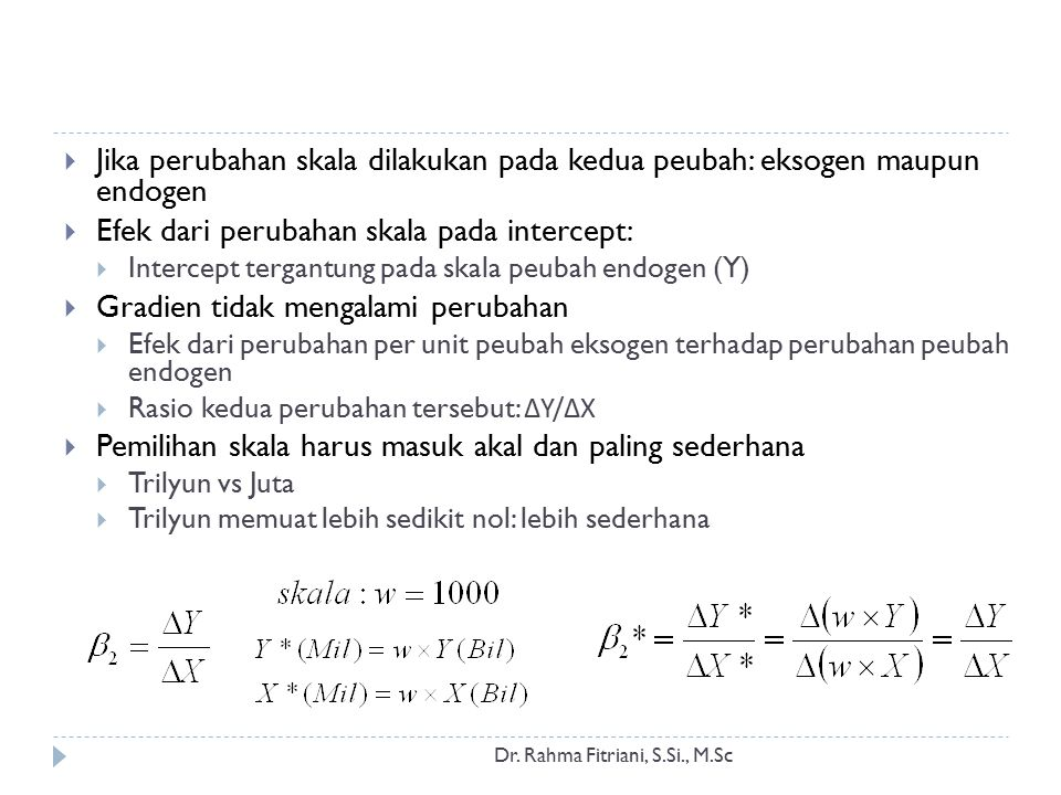 Pendugaan Model Log-Lin Dr.