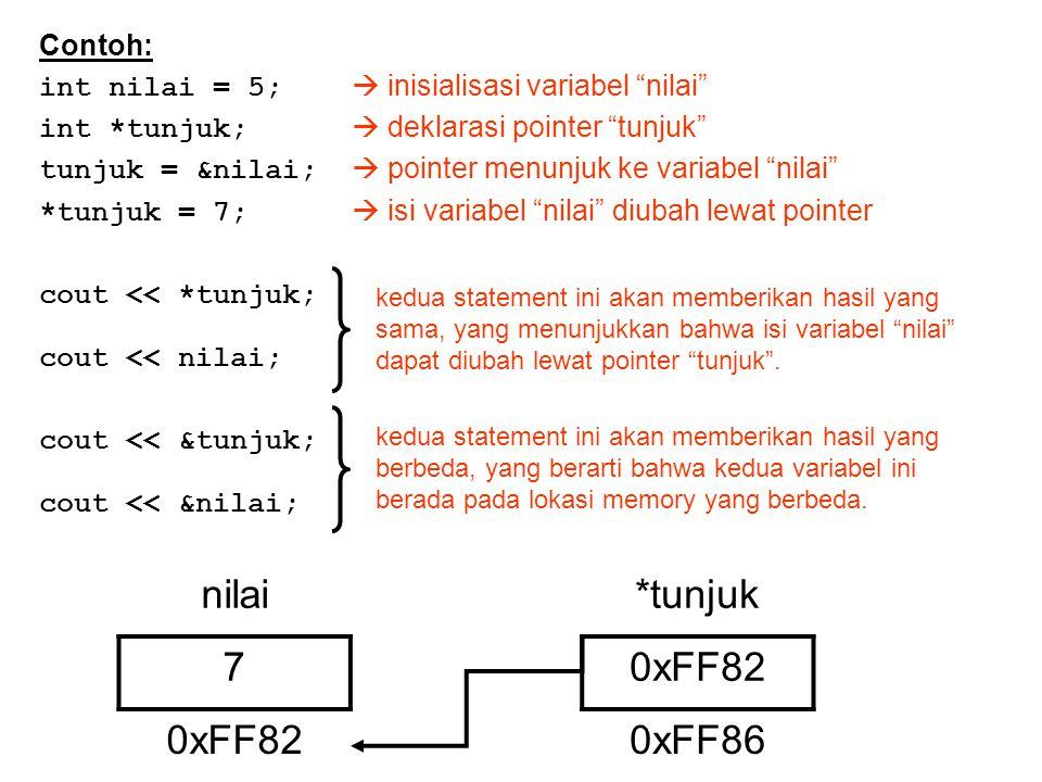 Reference Reference adalah variabel yang memiliki alamat memory yang sama dengan variabel lain.
