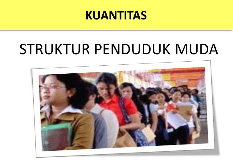 KUANTITAS STRUKTUR PENDUDUK MUDA