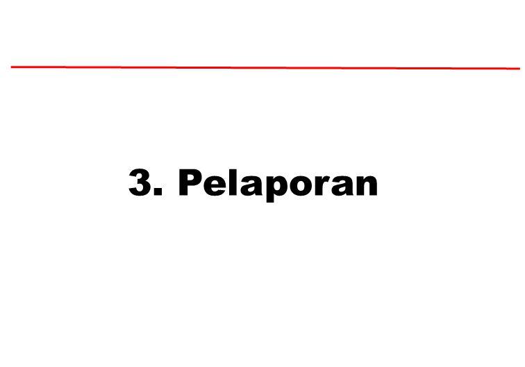 3. Pelaporan
