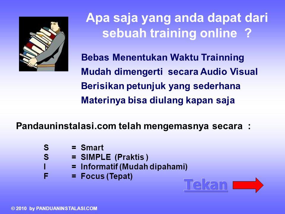 Apa saja yang anda dapat dari sebuah training online .