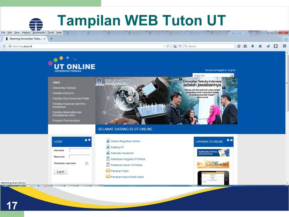 Tampilan WEB Tuton UT 17