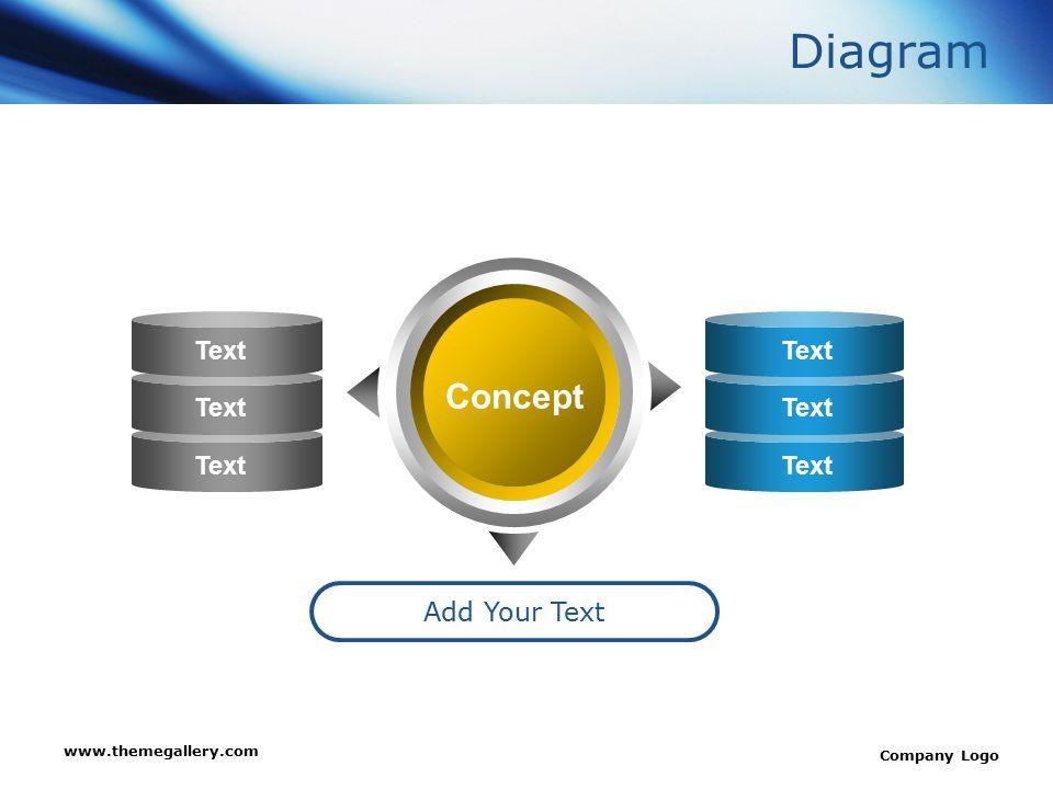 www.themegallery.com Company Logo Diagram Add Your Text