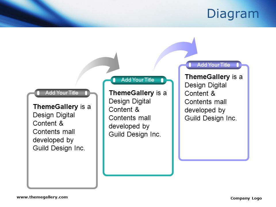 www.themegallery.com Company Logo Diagram Add Your Title ThemeGallery is a Design Digital Content & Contents mall developed by Guild Design Inc.
