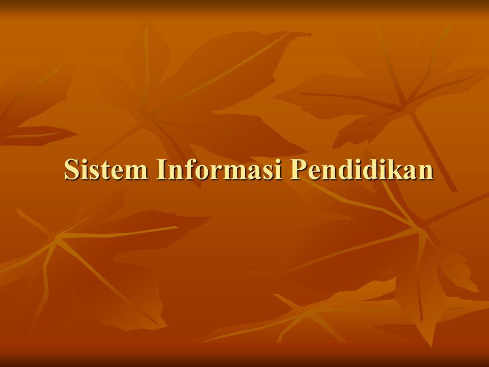 Sistem Informasi Pendidikan
