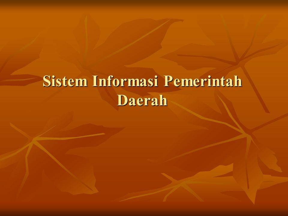 Sistem Informasi Pemerintah Daerah