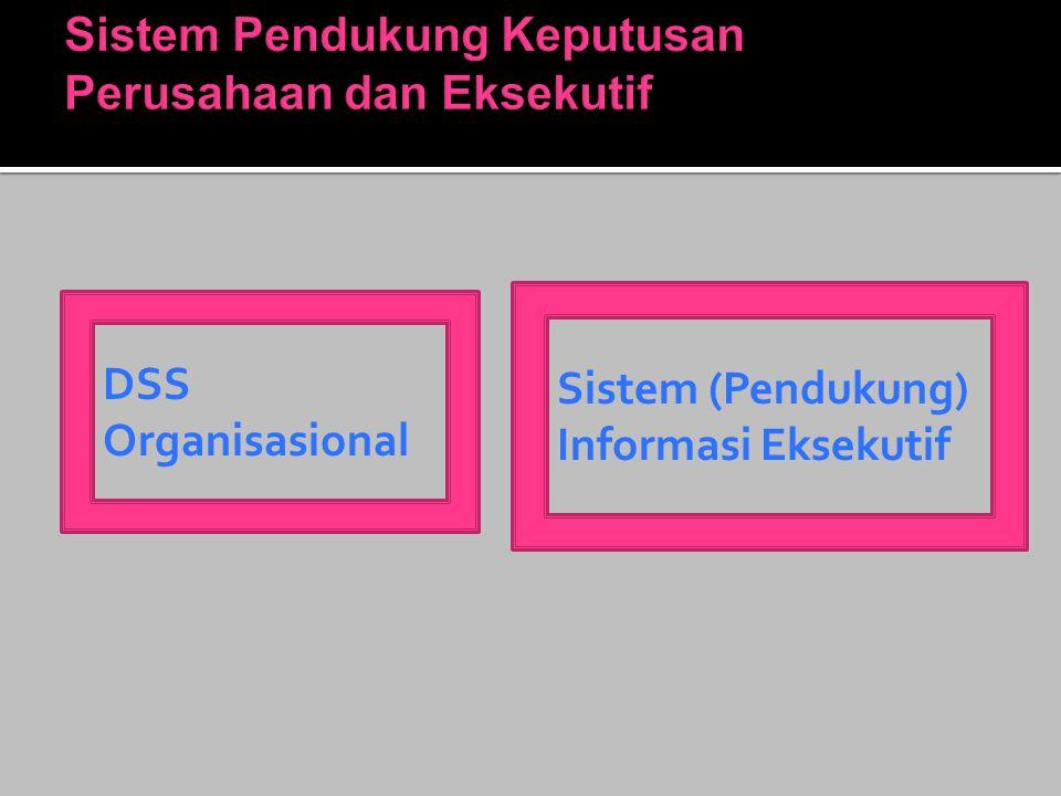 DSS Organisasional Sistem (Pendukung) Informasi Eksekutif
