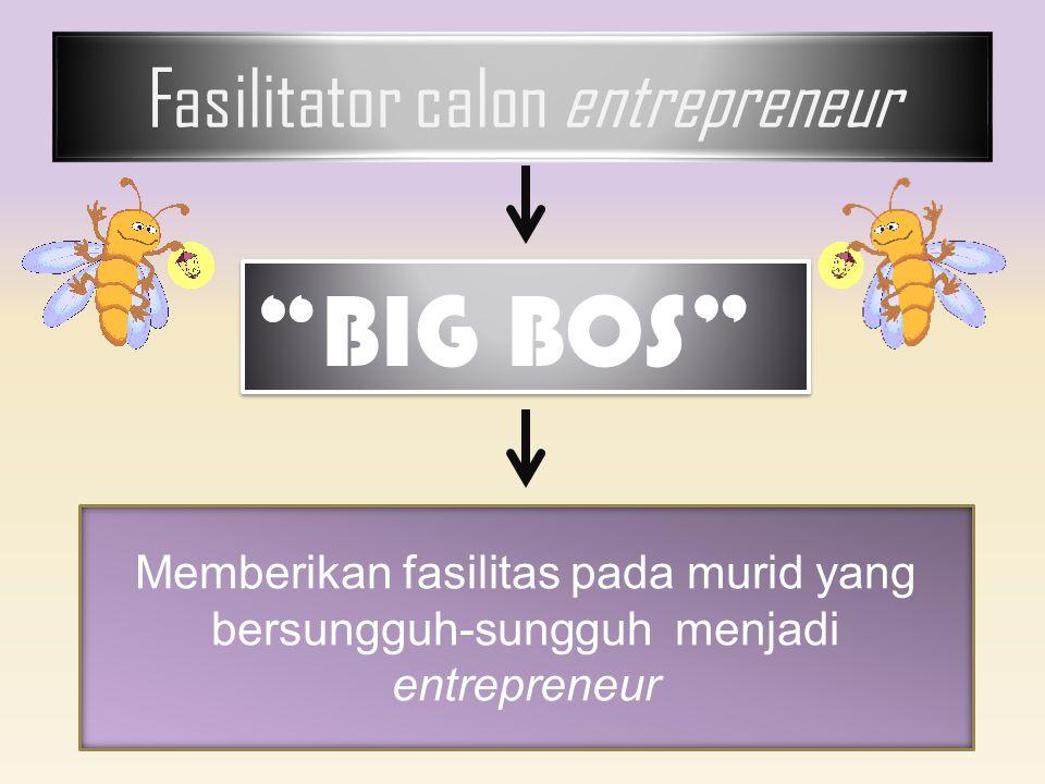 """Fasilitator calon entrepreneur """"BIG BOS"""" Memberikan fasilitas pada murid yang bersungguh-sungguh menjadi entrepreneur"""