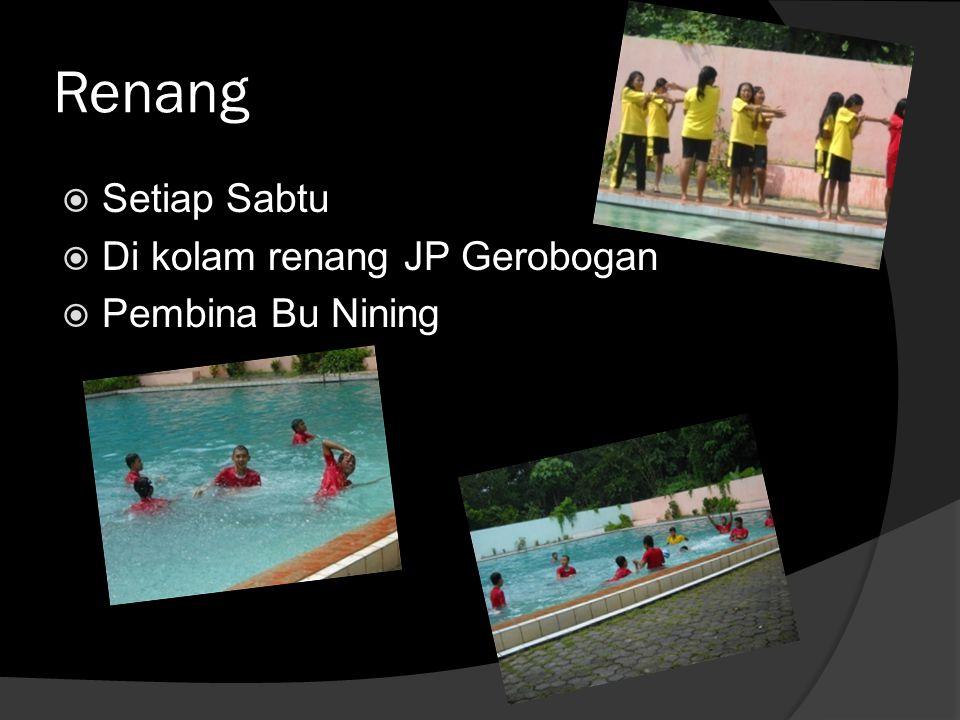 Renang  Setiap Sabtu  Di kolam renang JP Gerobogan  Pembina Bu Nining