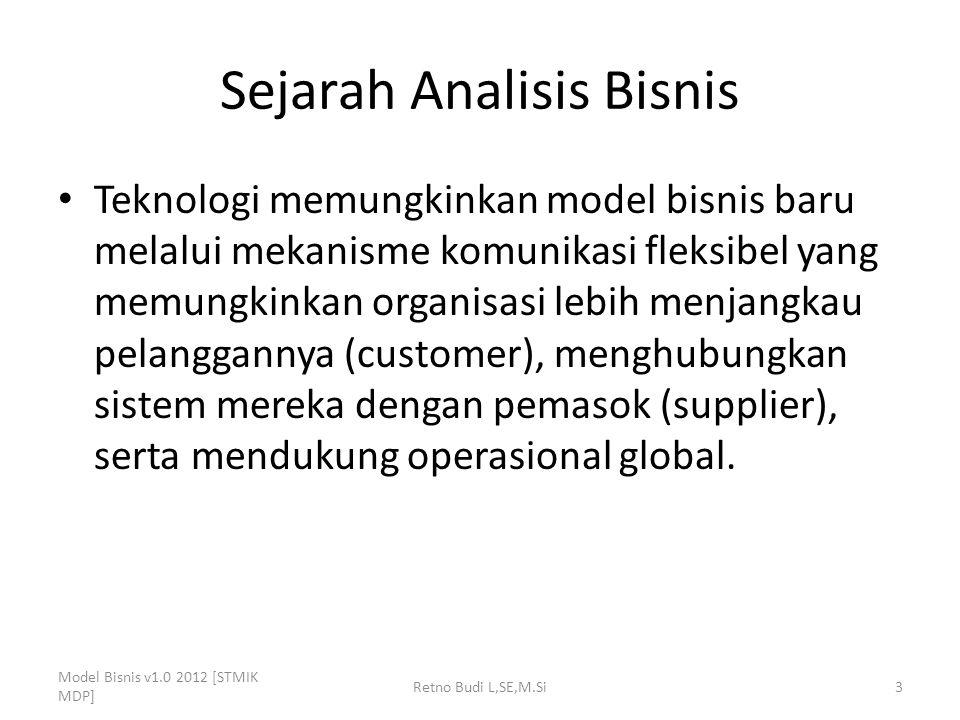 Model BAM (Business Analysis Maturity Model) Model Bisnis v1.0 2012 [STMIK MDP] Retno Budi L,SE,M.Si24