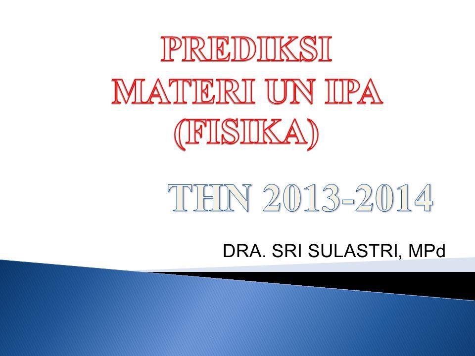 DRA. SRI SULASTRI, MPd