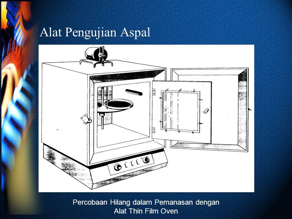 Alat Pengujian Aspal Percobaan Hilang dalam Pemanasan dengan Alat Thin Film Oven