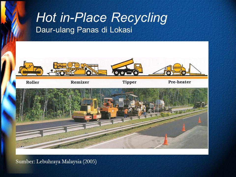 Hot in-Place Recycling Daur-ulang Panas di Lokasi Sumber: Lebuhraya Malaysia (2005)