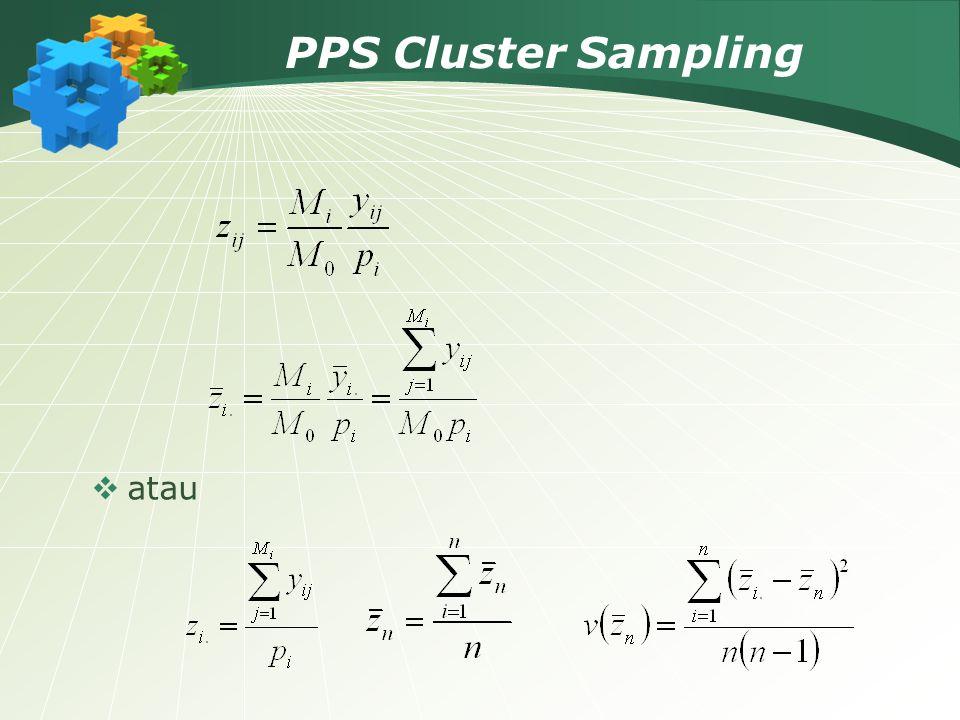 PPS Cluster Sampling  atau