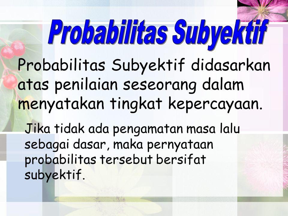 3.Probabilitas Beberapa Peristiwa. Peristiwa Saling Lepas.