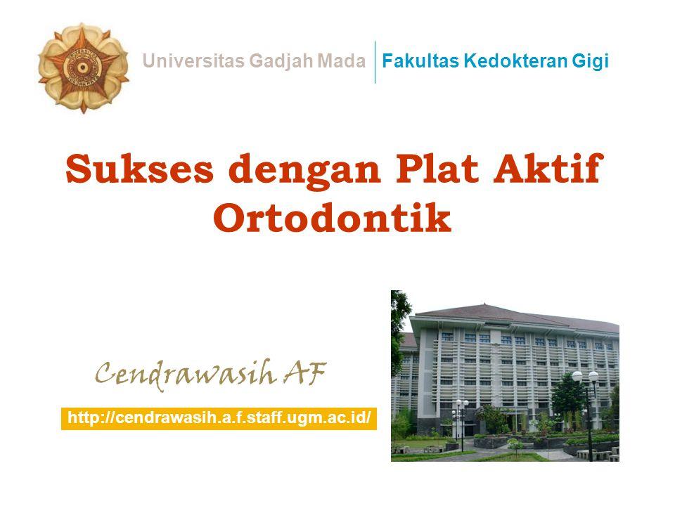 Sukses dengan Plat Aktif Ortodontik Cendrawasih AF Universitas Gadjah MadaFakultas Kedokteran Gigi http://cendrawasih.a.f.staff.ugm.ac.id/