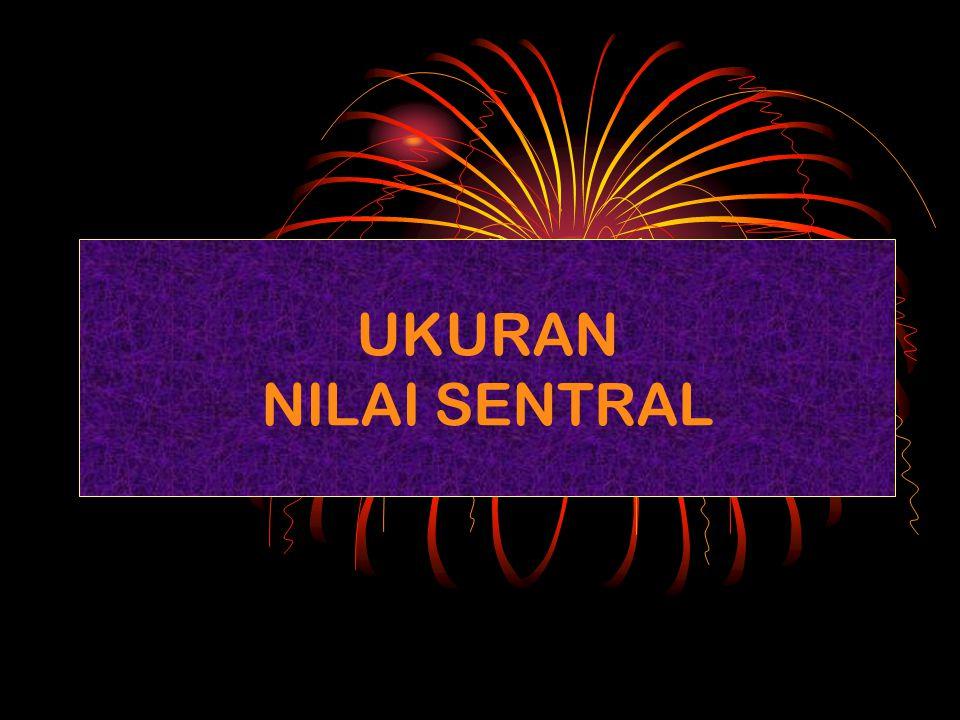 UKURAN NILAI SENTRAL