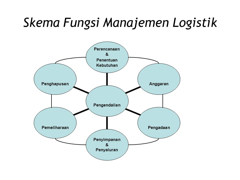 Skema Fungsi Manajemen Logistik