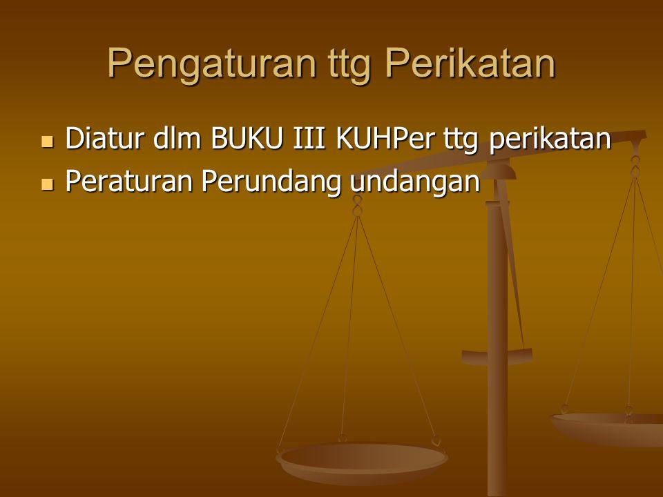 Pengaturan ttg Perikatan Diatur dlm BUKU III KUHPer ttg perikatan Diatur dlm BUKU III KUHPer ttg perikatan Peraturan Perundang undangan Peraturan Peru